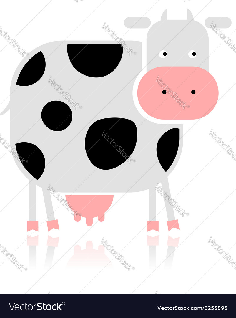 Funny cow for your design vector | Price: 1 Credit (USD $1)