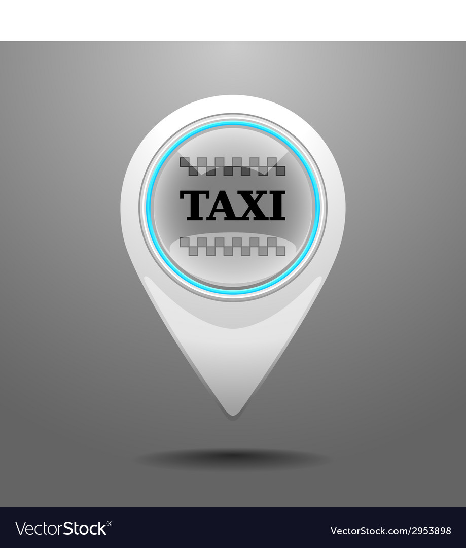 Glossy taxi icon vector | Price: 1 Credit (USD $1)
