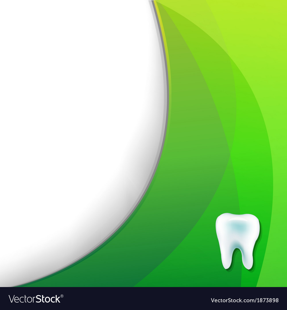 Green wallpaper with tooth vector | Price: 1 Credit (USD $1)