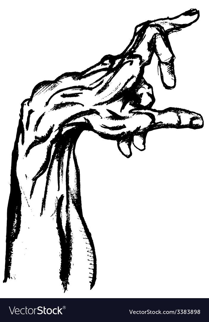 Hand drwan hand vector | Price: 1 Credit (USD $1)