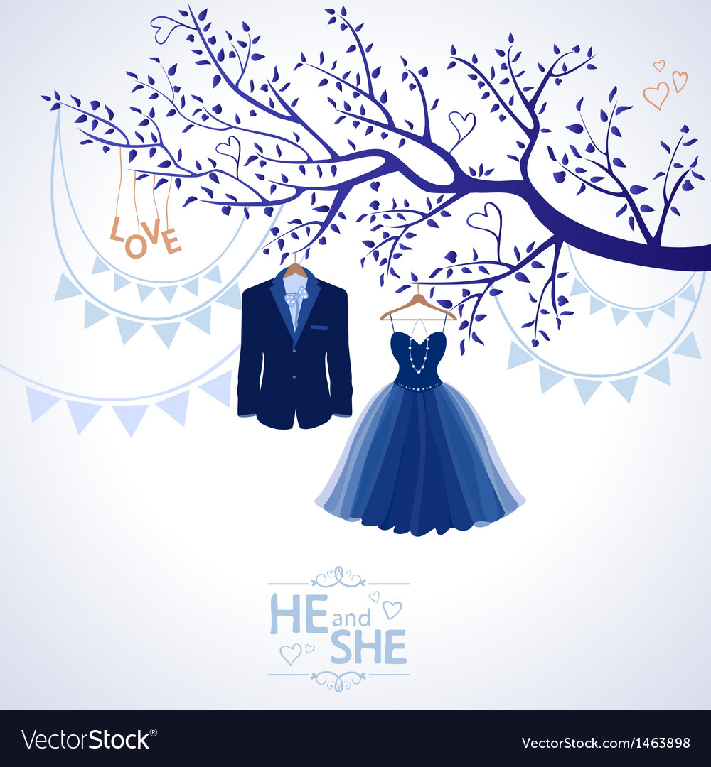 He and she vector | Price: 1 Credit (USD $1)