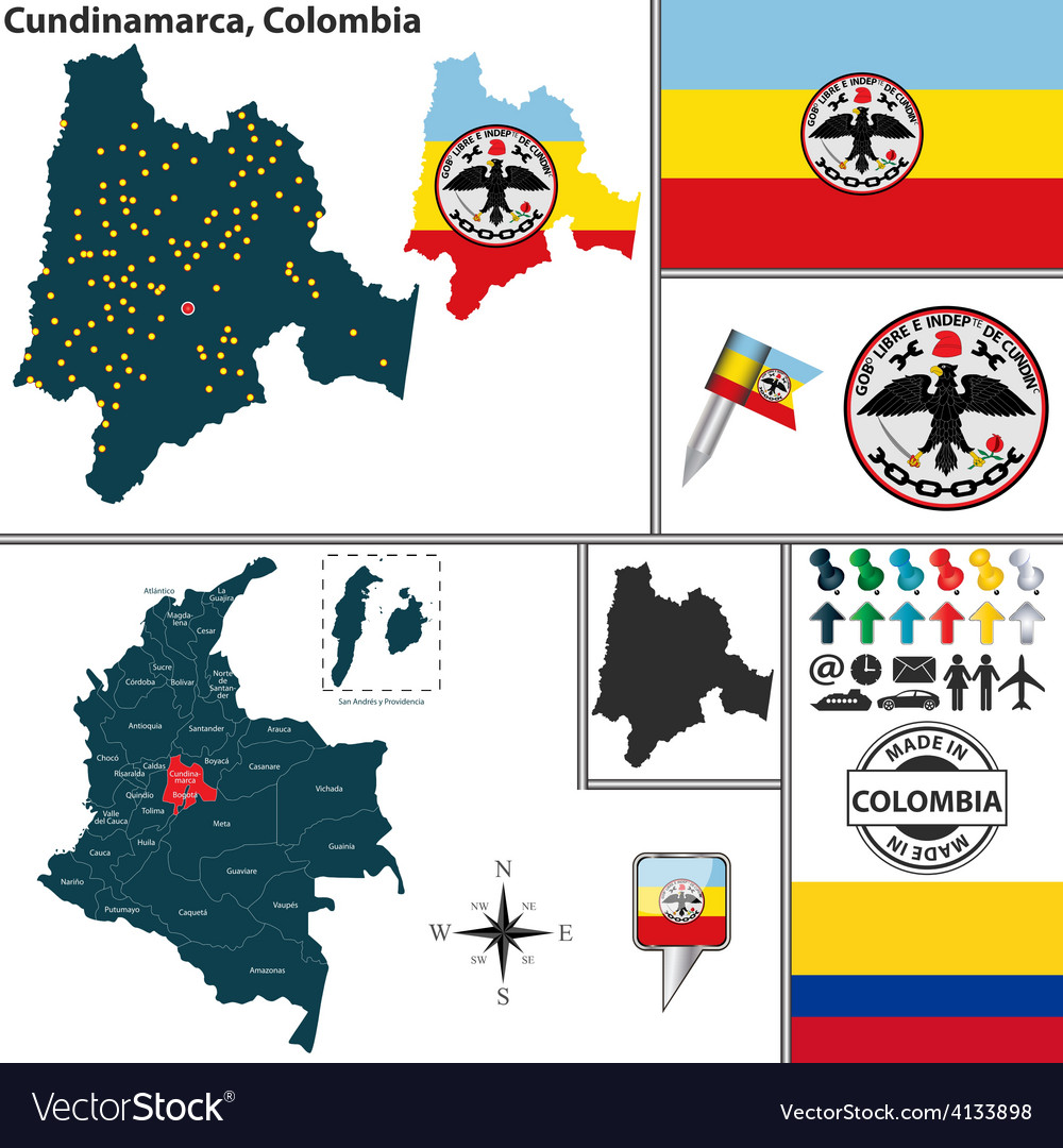 Map of cundinamarca vector | Price: 1 Credit (USD $1)