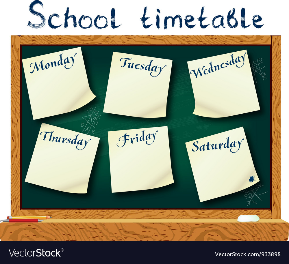 School timetable vector   Price: 1 Credit (USD $1)