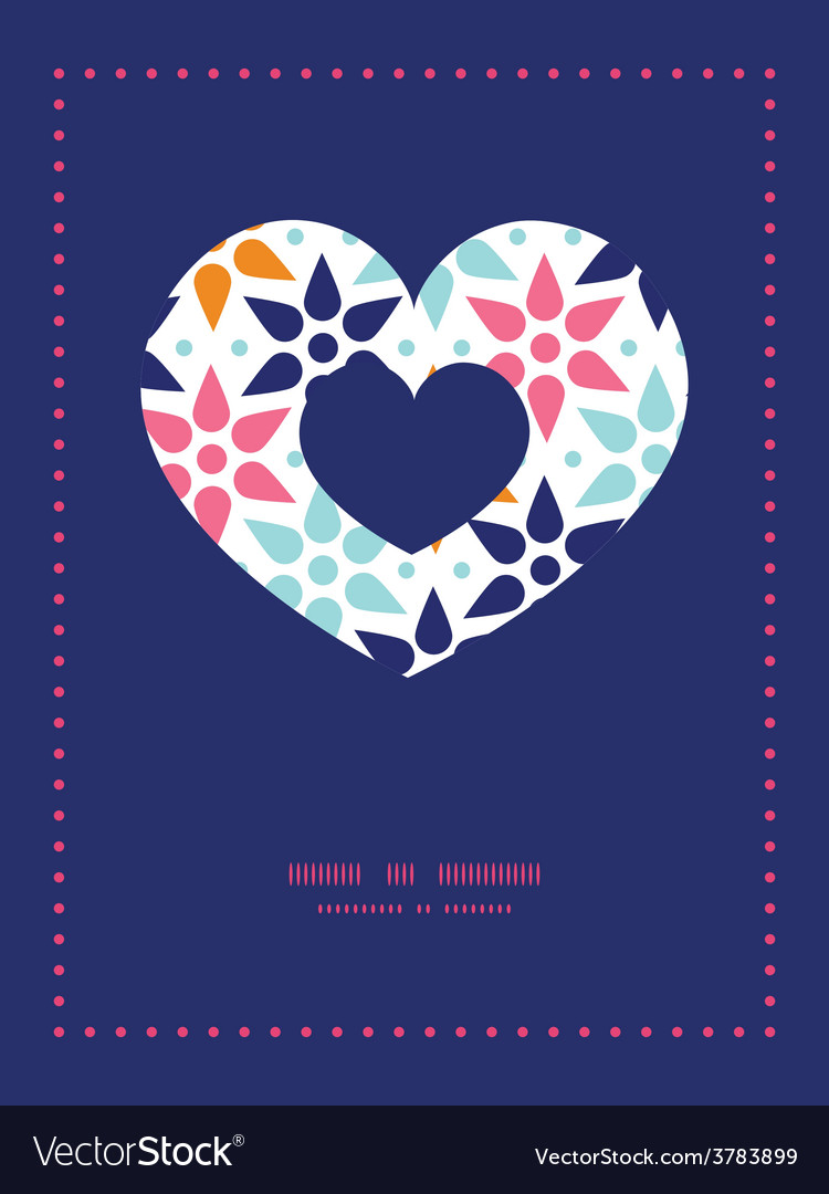 Abstract colorful stars heart symbol frame vector   Price: 1 Credit (USD $1)