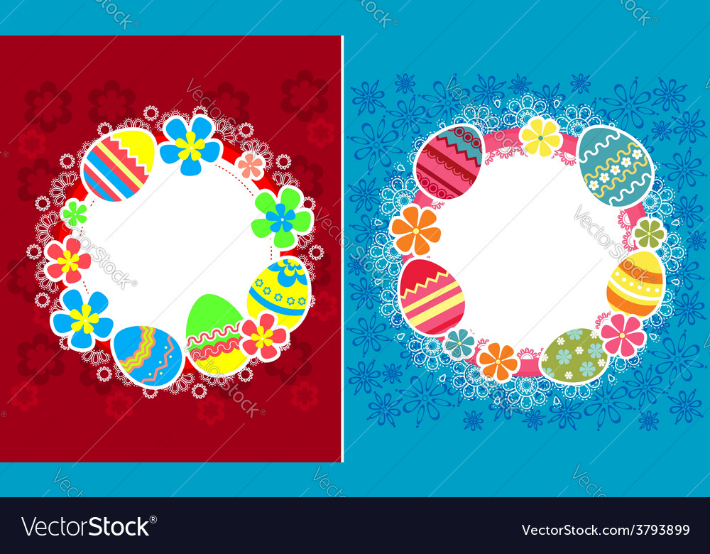 Decorative easter frames vector | Price: 1 Credit (USD $1)