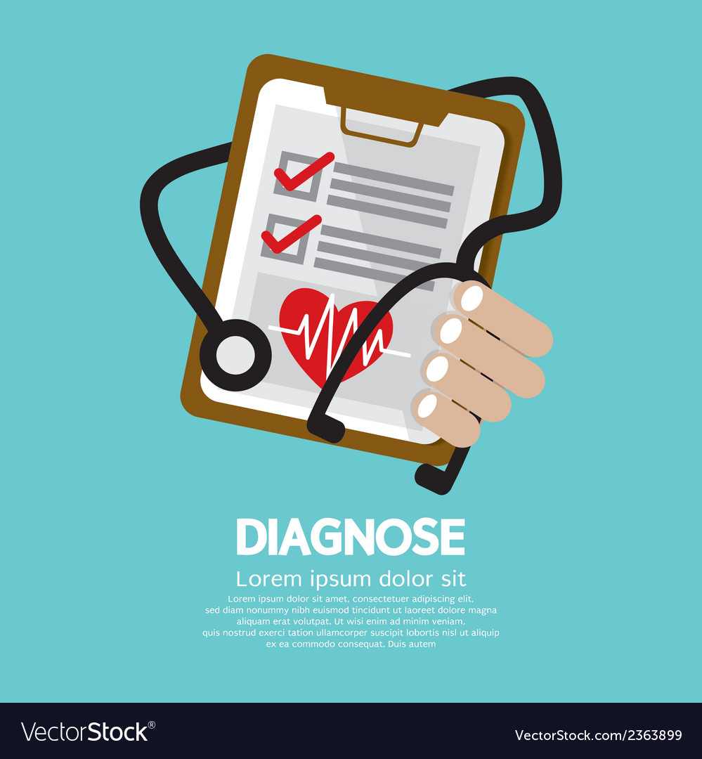 Diagnosis vector | Price: 1 Credit (USD $1)