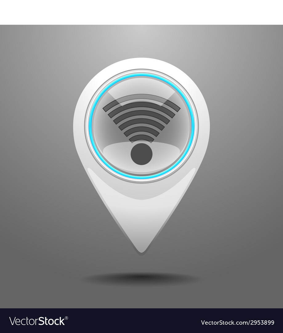 Glossy wifi icon vector | Price: 1 Credit (USD $1)