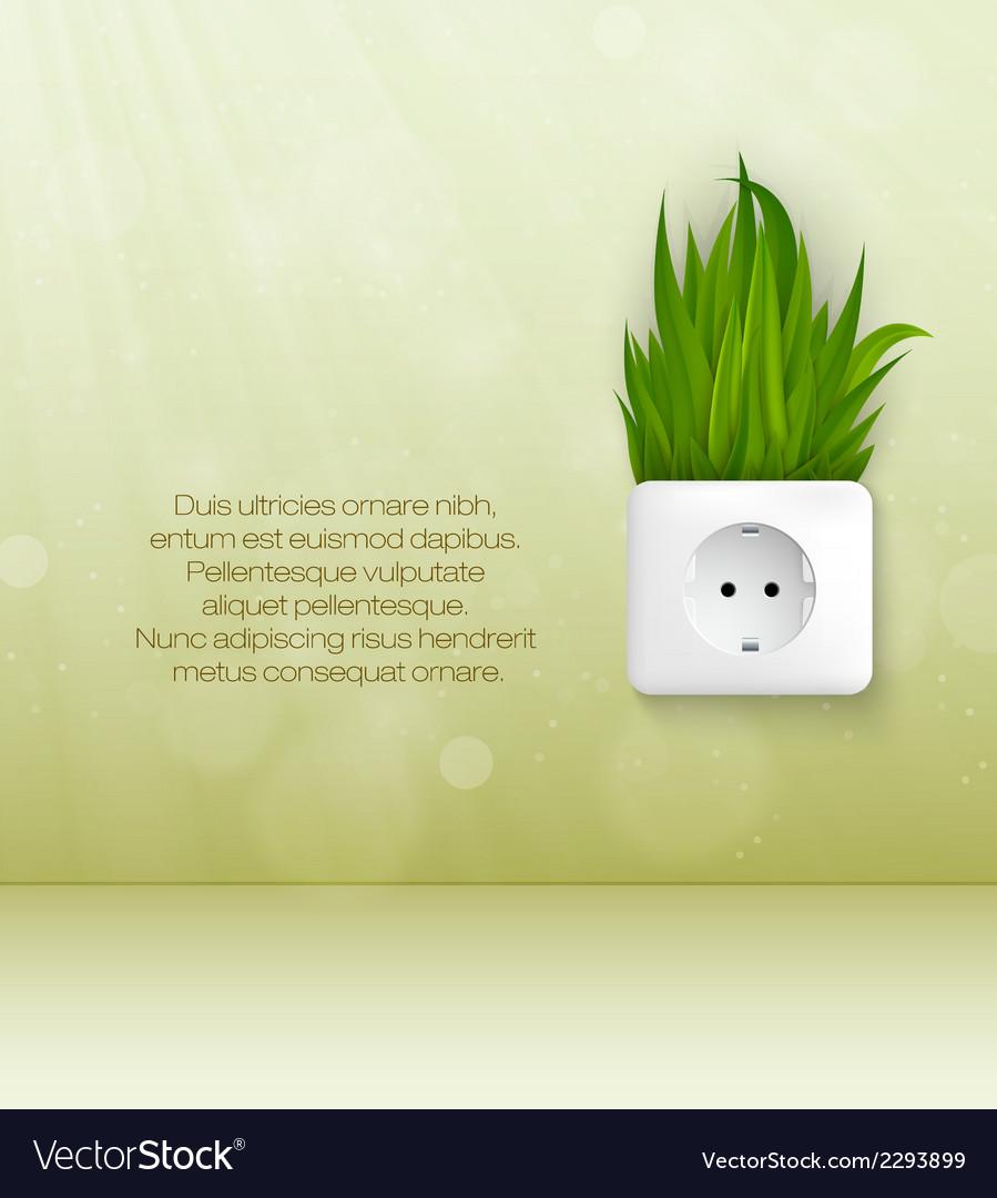 Green socket with grass vector | Price: 1 Credit (USD $1)