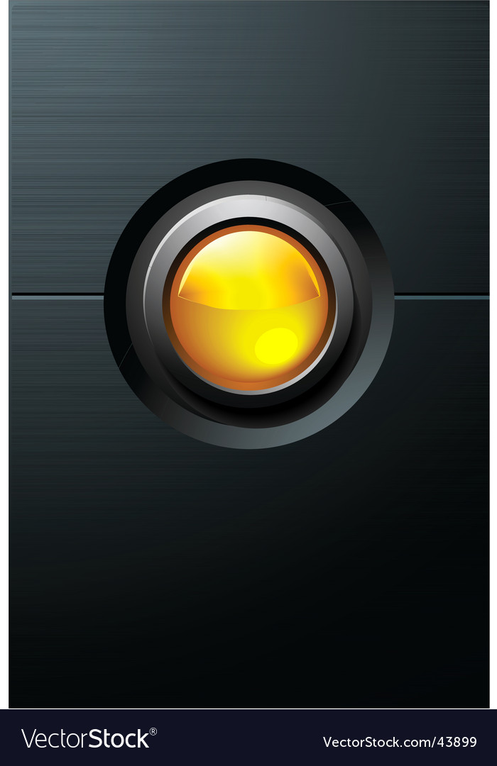 Yellow button vector | Price: 1 Credit (USD $1)