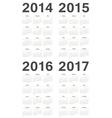 Set of russian 2014-2017 year calendars vector