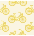 Seamless pattern with colorful vintage bicycles vector