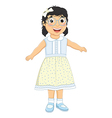 Girl laughing vector