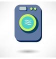Washing machine icon isolated vector