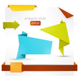Origami style speech banner vector