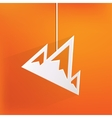 Mountains web icon vector