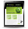 Touch pad globe web vector