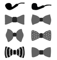 Bow ties and pipes vector