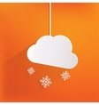 Cloud with snow web icon vector