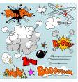 Set of comic elements vector