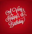 Birthday vintage lettering background vector