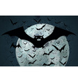Grunge halloween bat background vector