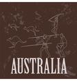 Australia landmarks retro styled image vector