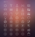 Thin icon set 1 vector
