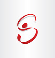 Letter s man stylized symbol vector