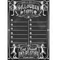 Vintage blackboard for halloween party vector