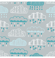 Seamless pattern of hand drawn doodle clouds vector