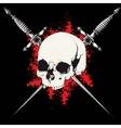 Skull and dagger black vector