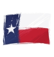 Grunge texas flag vector