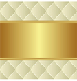 Creamy gold background vector