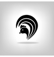The black stylized cocks on a white background vector