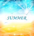 Summer holiday background glowing wallpaper vector