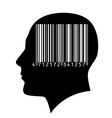Head of a man with a barcode vector