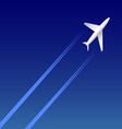 Airplane on sky vector