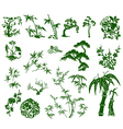Chinese bamboo plant vector