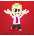 Cartoon business character vector