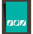 Restaurant menu design with cutlery symbols vector