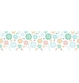 Colorful molecules horizontal seamless pattern vector