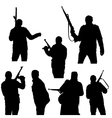 Set of silhouettes a man with arms vector