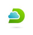 Letter d cloud logo icon design template elements vector