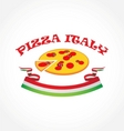 Pizza italy vector