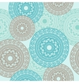 Seamless pattern ornamental round lace vector