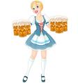 Oktoberfest girl vector