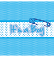 Background baby shower its a boy vector