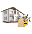 Toolbox and house vector