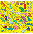 Colored cats pattern vector