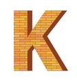Brick letter k vector
